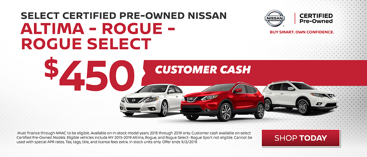 Certified Pre-Owned Nissan Altima, Rogue, Rouge Select
